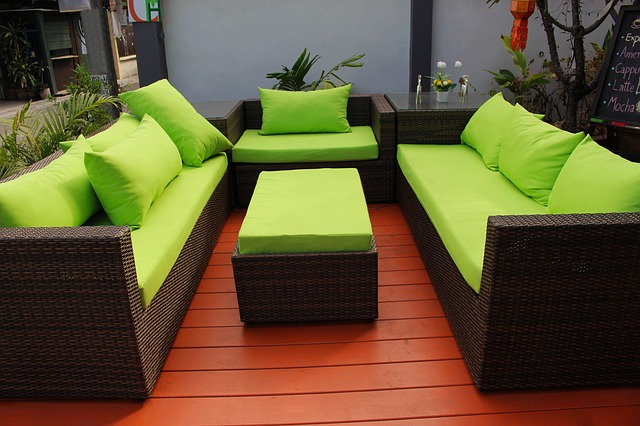 Green Patio Seats